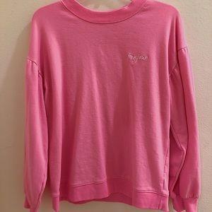 "Mossimo Pink ""Bonjour"" Sweatshirt (Never Worn)"